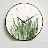 客廳綠色植物鐘表臥室個性靜音時鐘 NMS街頭潮人