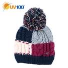 UV100 防曬 抗UV 保暖禦寒絨毛拼接毛線帽-童