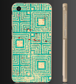 ✿ 俏魔女美人館✿ 【復古綠色圖紋*金屬邊框】htc 728手機殼 手機套 保護套 保護殼