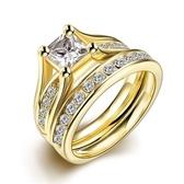 鈦鋼戒指 鑲鑽-精緻奢華雙層時尚生日情人節禮物男飾品73le6[時尚巴黎]