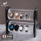 新子衣架日本進口手表收納盒首飾展示盒滑蓋式收藏整理盒子