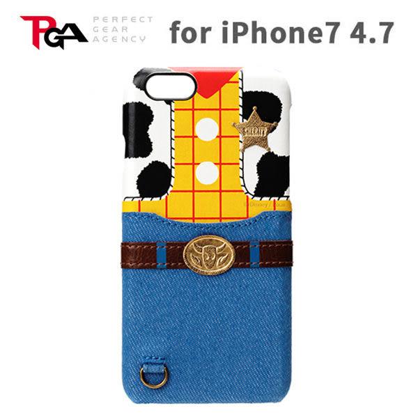 【漢博】iPhone 7 4.7吋 iJacket 迪士尼 皮革系列 可插卡 硬式保護殼 - 胡迪 玩具總動員