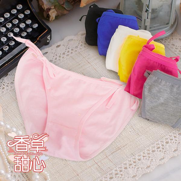 棉質綁帶造型內褲 輕甜少女心 - 香草甜心【10525U】