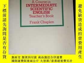 二手書博民逛書店A罕見Course in INTERMEDIATE SCIENTIFIC ENGLISH Teacher's Bo