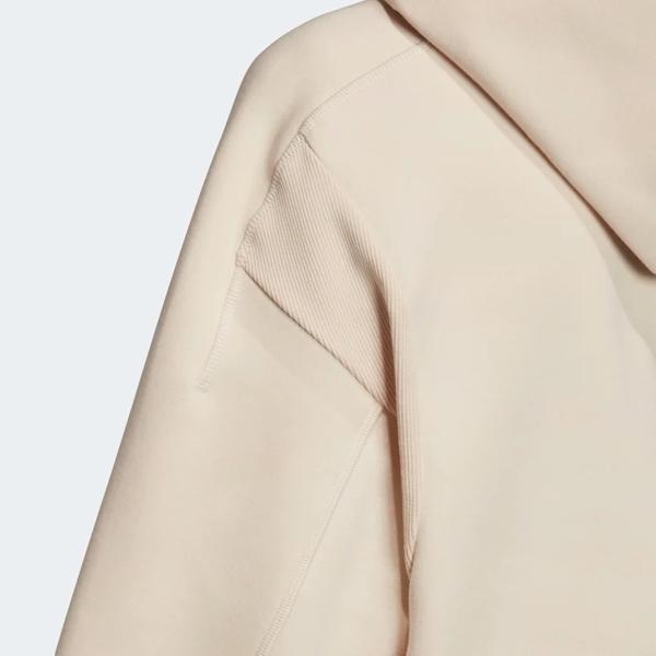 ADIDAS VRCT HOODIE 女裝 長袖 七分袖 連帽 短版 休閒 寬鬆 棉質 米白【運動世界】EA0418