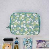 【韓版】超質感280T加厚防水雙層護照包/收納包(小白花)