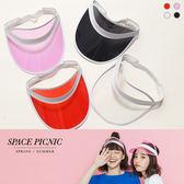 遮陽帽 Space Picnic|現+預.歐美果凍感鬆緊式遮陽帽【C18062024】