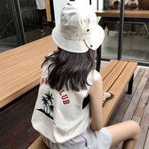 字母印花無袖T恤背心女夏裝2018新款韓版bf百搭寬鬆圓領上衣學生