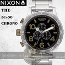 NIXON 實體店The 51-30 Chrono潛水腕錶BLACK / BRASS A083-2222公司貨/極限運動