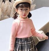 女童装 2020新款秋裝女童加絨上衣兒童裝洋氣純棉保暖寶寶高領打底衫冬裝【快速出貨八折搶購】