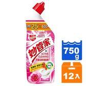 妙管家 芳香浴廁清潔劑-玫瑰花香 750g (12入)/箱【康鄰超市】