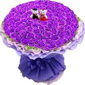 仿真花束玫瑰花香皂花99朵禮盒女友男朋友生日禮物創意求婚永生花 晴川生活馆