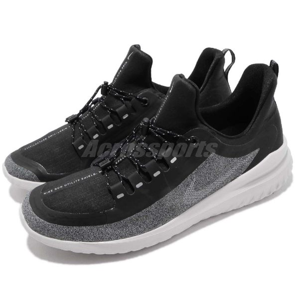 Nike 慢跑鞋 Renew Rival Shield 黑 灰 防水處理鞋面設計 舒適緩震 運動鞋 男鞋【PUMP306】 AR0022-001