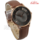 RELAX TIME Classic 經典系列 立體波紋簡約俐落女錶 真皮手錶 防水錶 玫瑰金X灰X咖 RT-88-2L