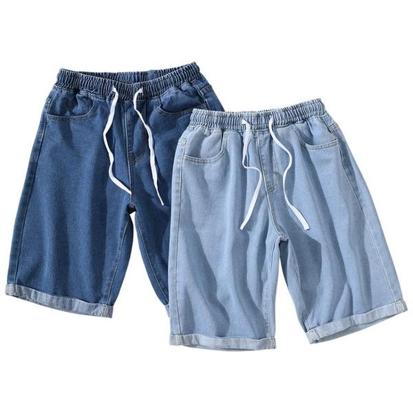 牛仔短褲男ins韓版潮牌寬鬆個性多口袋直筒褲潮流夏季百搭五分褲 創意空間