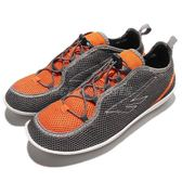 HI-TEC Zuuk M 絲瓜鞋 戶外專用品牌 灰 橘 輕量休閒鞋 男鞋【PUMP306】 O002333052