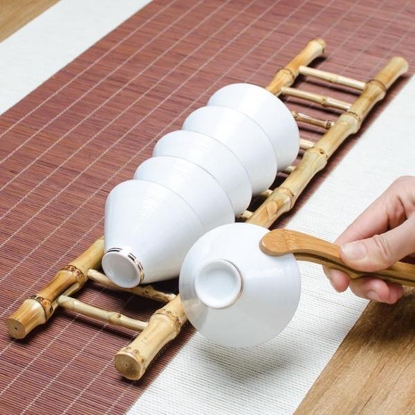 功夫茶杯架放茶具的架子收納杯托茶道擺件瀝水置物架【聚寶屋】