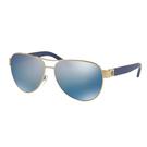 Tory Burch 【美國代購】女款 太陽眼鏡0TY6051金/藍閃偏光鏡