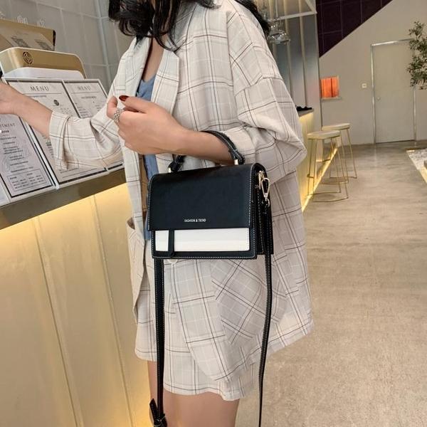 拼色包包女包新款潮時尚小包包斜背包女大氣手提包時尚側背包