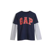 Gap男童棉質舒適圓領套頭T恤525121-海軍藍