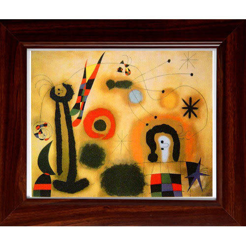 Miro米羅的橫幅抽象畫禮物~【Pleasure】