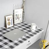 壁紙裝飾墻紙自粘防水桌貼簡約格子仿布桌面貼紙【雲木雜貨】