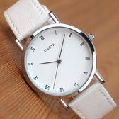 筱雅時尚皮帶石英情侶手錶男女士學生潮流男錶手錶復古女錶
