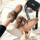 中大尺碼雪地靴女 新款韓版百搭棉鞋短筒靴學生加厚加絨保暖防滑短靴 AW10847【棉花糖伊人】