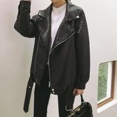 皮衣外套 春秋2020新款韓版寬鬆網紅帥氣機車服pu皮衣女黑色外套夾克上衣潮 新年慶