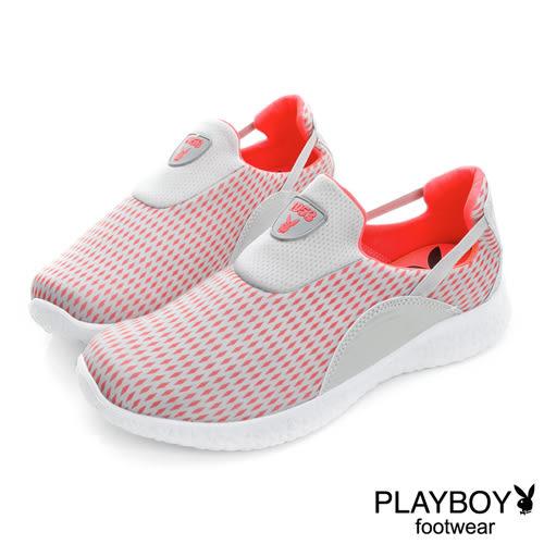 PLAYBOY 動感世代 美式運動風輕量休閒鞋-灰