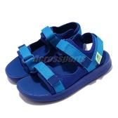 New Balance 涼拖鞋 NB 750 Wide 寬楦 藍 黃 童鞋 中童鞋 運動涼鞋 【ACS】 YH750BYW