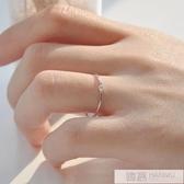 鋯石細戒指女個性純銀學生清新簡約氣質食指韓版  99購物節