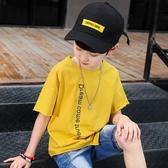 男童童裝 2020新款夏裝棉質休閒t恤 中大童韓版短袖兒童帥氣運動潮