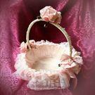 婚禮小物-精緻玫瑰小提籃-喜糖籃/婚宴氣氛 幸福朵朵