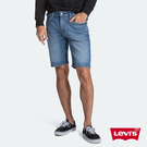 Levis 男款 505寬鬆直筒牛仔短褲...