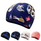 花色純色布泳帽舒適溫泉游泳帽【3C玩家】