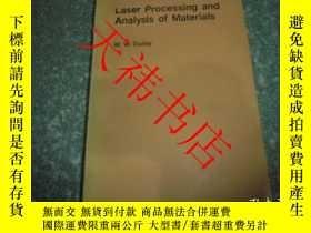 二手書博民逛書店Laser罕見Processing and Analysis o