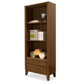 【時尚屋】[NM29]米亞淺胡桃2.1尺二抽書櫃NM29-593免運費/免組裝/書櫃