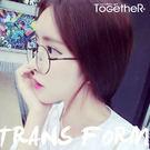 ToGetheR+【CE915】文藝風格細邊圓形平光眼鏡(五色)