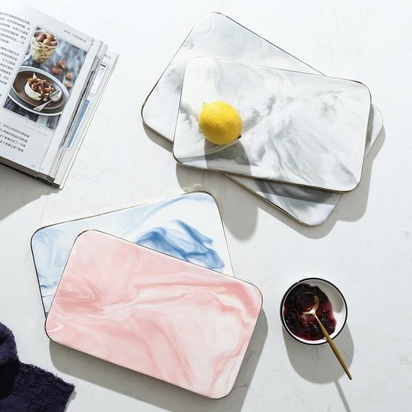 [大款] 大理石紋陶瓷砧板盤 金邊大理石紋 托盤 大理石紋 盤子 餐盤 大理石盤【RS1217】