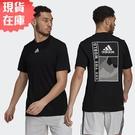 【現貨】Adidas SPORTPHORIA AEROREADY 男裝 短袖 吸濕排汗 圖騰 黑【運動世界】GL2361