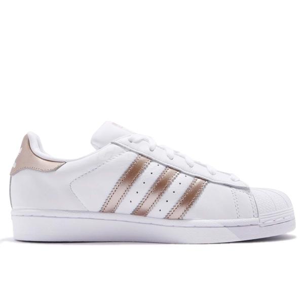 adidas 休閒鞋 Superstar W 白 金 玫瑰金 小白鞋 貝殼頭 女鞋 百搭款 運動鞋【ACS】 CG5463