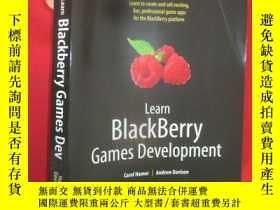 二手書博民逛書店Learn罕見Blackberry Games Developm