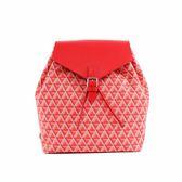 【LANCASTER】IKON系列幾何圖形後背包BACKPACK(紅色) 518-43 ROUGE