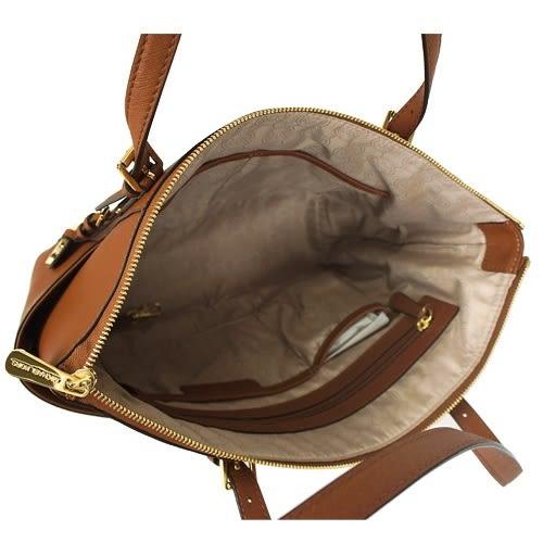 米菲客 Michael Kors MK 35S4GTTL1L 時尚素面款 荔枝紋耐用皮革 肩背包(駝)