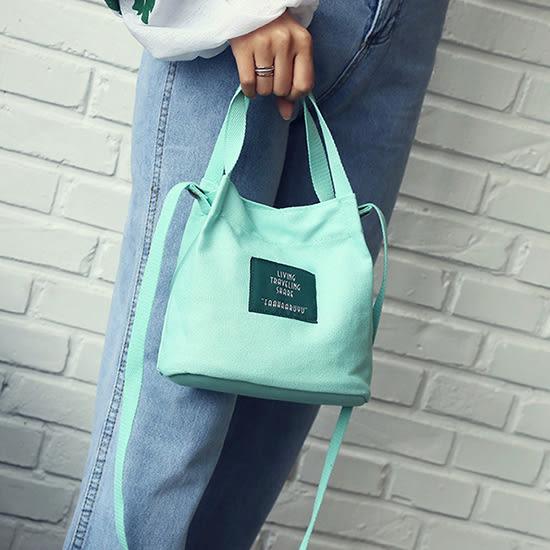 手提包 水桶包 旅行袋 帆布袋 隨身袋 手提袋 帆布斜背包 斜背 女包 韓版【N108】生活家精品