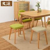 實木凳子餐桌凳時尚方凳創意小板凳成人家用餐凳布藝化妝凳梳妝凳 WD 薔薇時尚