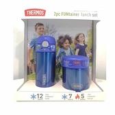 Thermos FUNtainer 保溫瓶+食物罐組 BPA Free 藍/紅 [2美國直購]