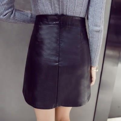 皮革短裙-時尚獨特天鵝繡花女裙子73kj93[巴黎精品]