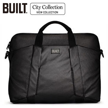 BUILT NY Slim Laptop Bag City電腦包15吋-黑色(CE-LTSB-BLK)單層